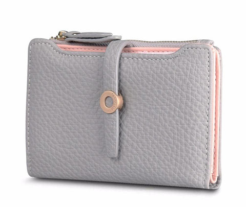 Lovely Leather Short Women's Wallet - The Bag Culture