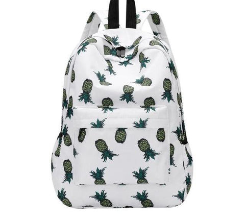 Pineapple Canvas Backpack - 3 Styles - The Bag Culture