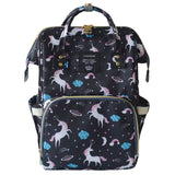 Large Stylish Baby Diaper Backpack Unicorn Prints - The Bag Culture