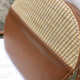 Kelsie Round Woven Rattan Bag - The Bag Culture