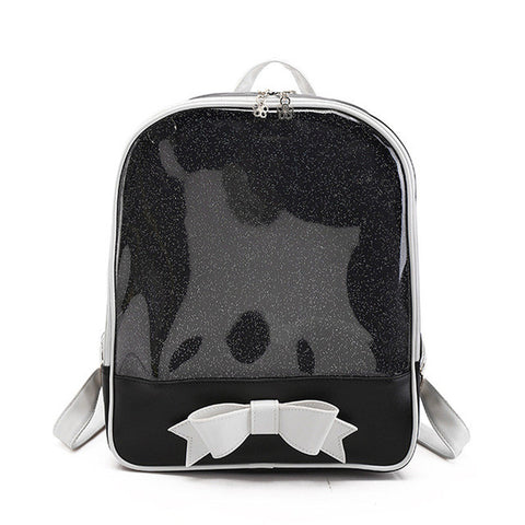 Candy Bow Transparent Backpack