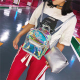Transparent Holographic Backpack