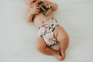 Cloth Nappy set Sunshine Floral Bare+Boho OSFM V2