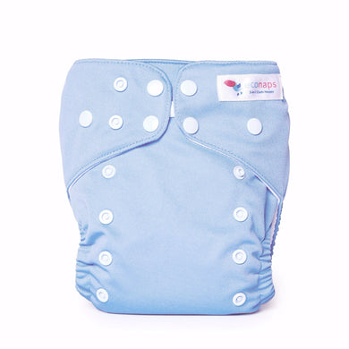 Cloth Nappy set Dusty Blue EcoNaps