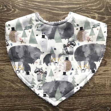 Forest Friends Triangle Bib Tilda & Moo