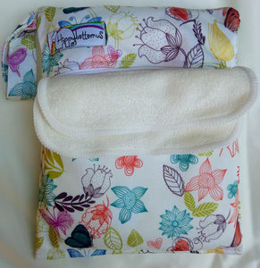 Hippybottomus - reusable wipe set - Floral