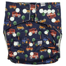 Load image into Gallery viewer, Hippybottomus - Stay Dry Bamboo Cloth Nappy - Cars and Trucks