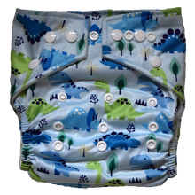 Load image into Gallery viewer, Hippybottomus - Stay Dry Bamboo Cloth Nappy - Dinosaurs