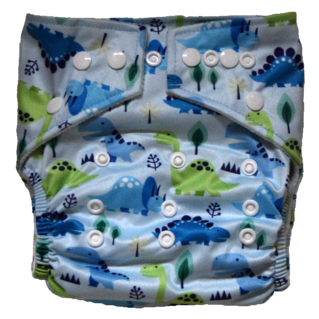 Hippybottomus - Stay Dry Bamboo Cloth Nappy - Dinosaurs