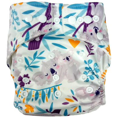 Hippybottomus - Stay Dry Bamboo Cloth Nappy - Koala