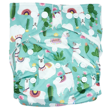 Load image into Gallery viewer, Hippybottomus - Stay Dry Bamboo Cloth Nappy - Llama