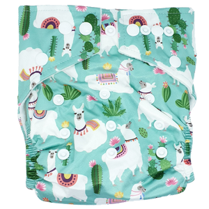 Hippybottomus - Stay Dry Bamboo Cloth Nappy - Llama