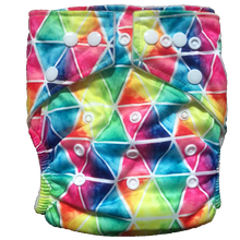 Load image into Gallery viewer, Hippybottomus - Stay Dry Bamboo Cloth Nappy - Rainbow