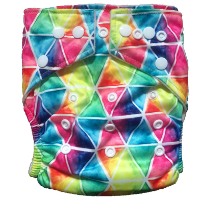Hippybottomus - Stay Dry Bamboo Cloth Nappy - Rainbow