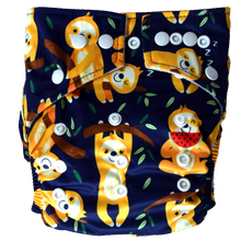 Load image into Gallery viewer, Hippybottomus - Stay Dry Bamboo Cloth Nappy - Sloths