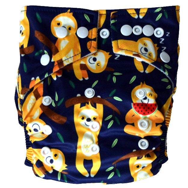 Hippybottomus - Stay Dry Bamboo Cloth Nappy - Sloths