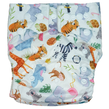 Load image into Gallery viewer, Hippybottomus - Stay Dry Bamboo Cloth Nappy - Summer Friends