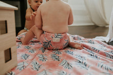 Load image into Gallery viewer, Cloth Nappy set Santorini Palms Bare+Boho OSFM V2