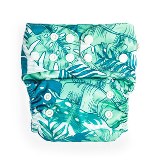 EcoNaps Cloth Nappy Set Tropical Palms