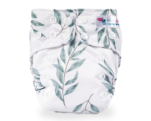 EcoNaps Cloth Nappy Set Olive Leaf