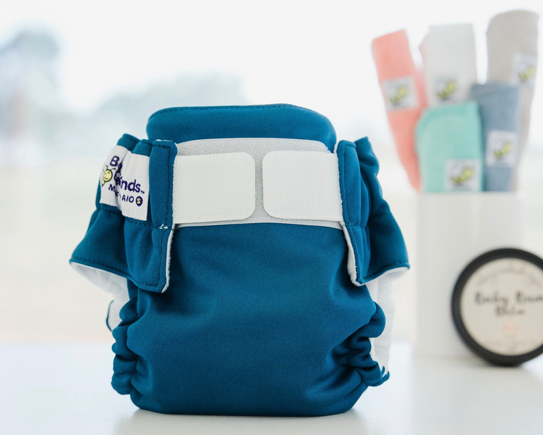 Cloth Nappy with Velcro Azure Baby BeeHinds
