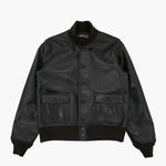 A-1 Jacket in Black Aniline Horse