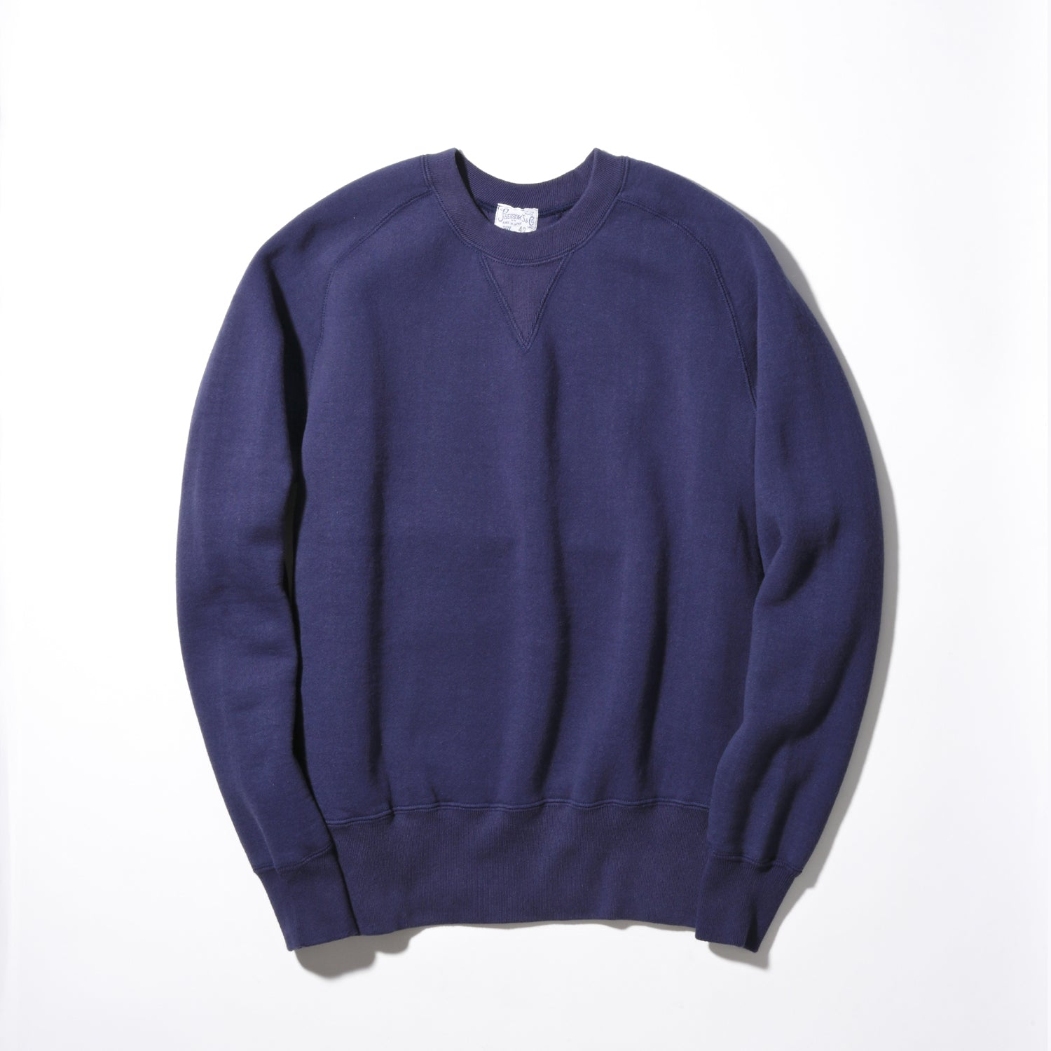 Freedom Sleeve Tsuri-Ami Loopwheel Crewneck Sweatshirt PS100 in Navy