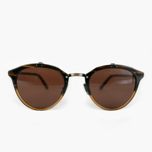 KJ-23 Sunglass in Brown Half