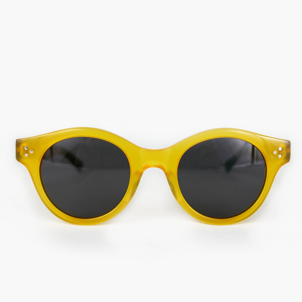 KJ-12 Sunglass in Yellow  - Biodegradable Cellulose Acetate