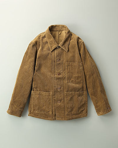 Work Cover Jacket in Brown Corduroy