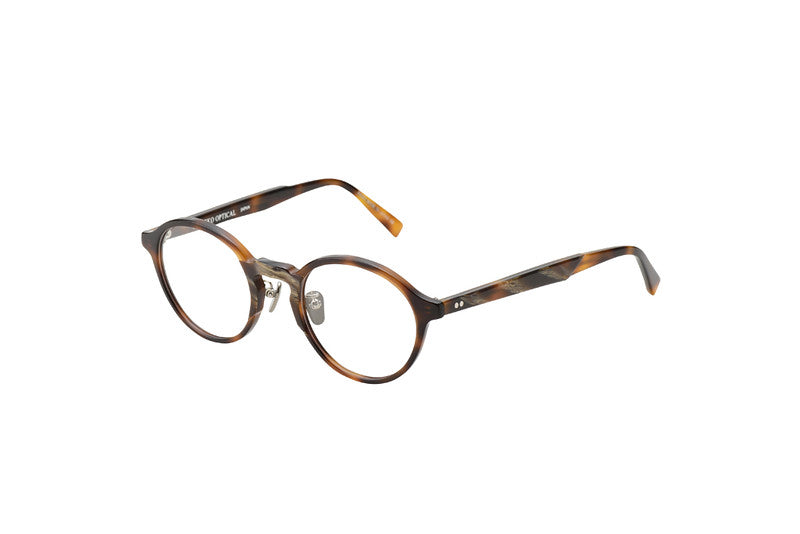 KJ-08 in Brown Horn  - Biodegradable Cellulose Acetate and Titanium