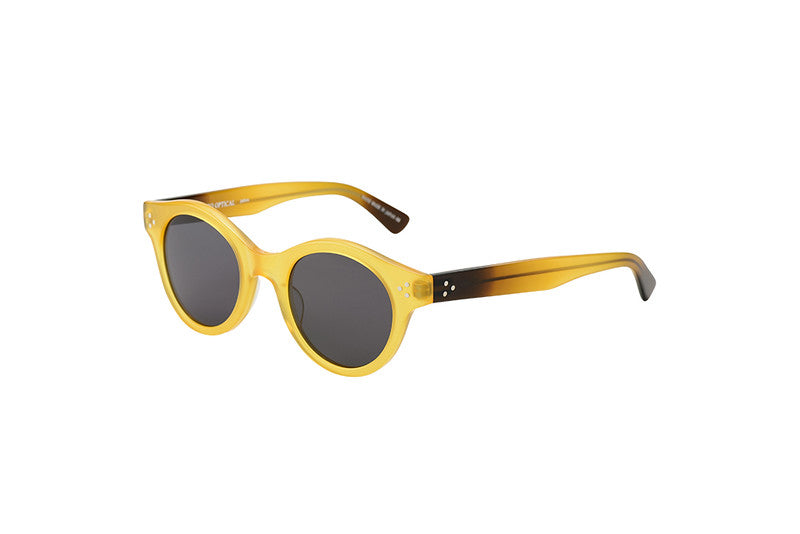 KJ-12 Sunglass in Yellow  - Cellulose Acetate