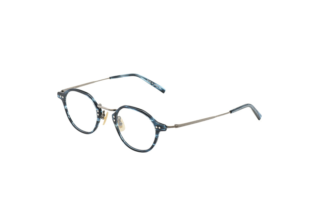 KV-85 in Navy Stripes - Cellulose Acetate and Pure Titanium