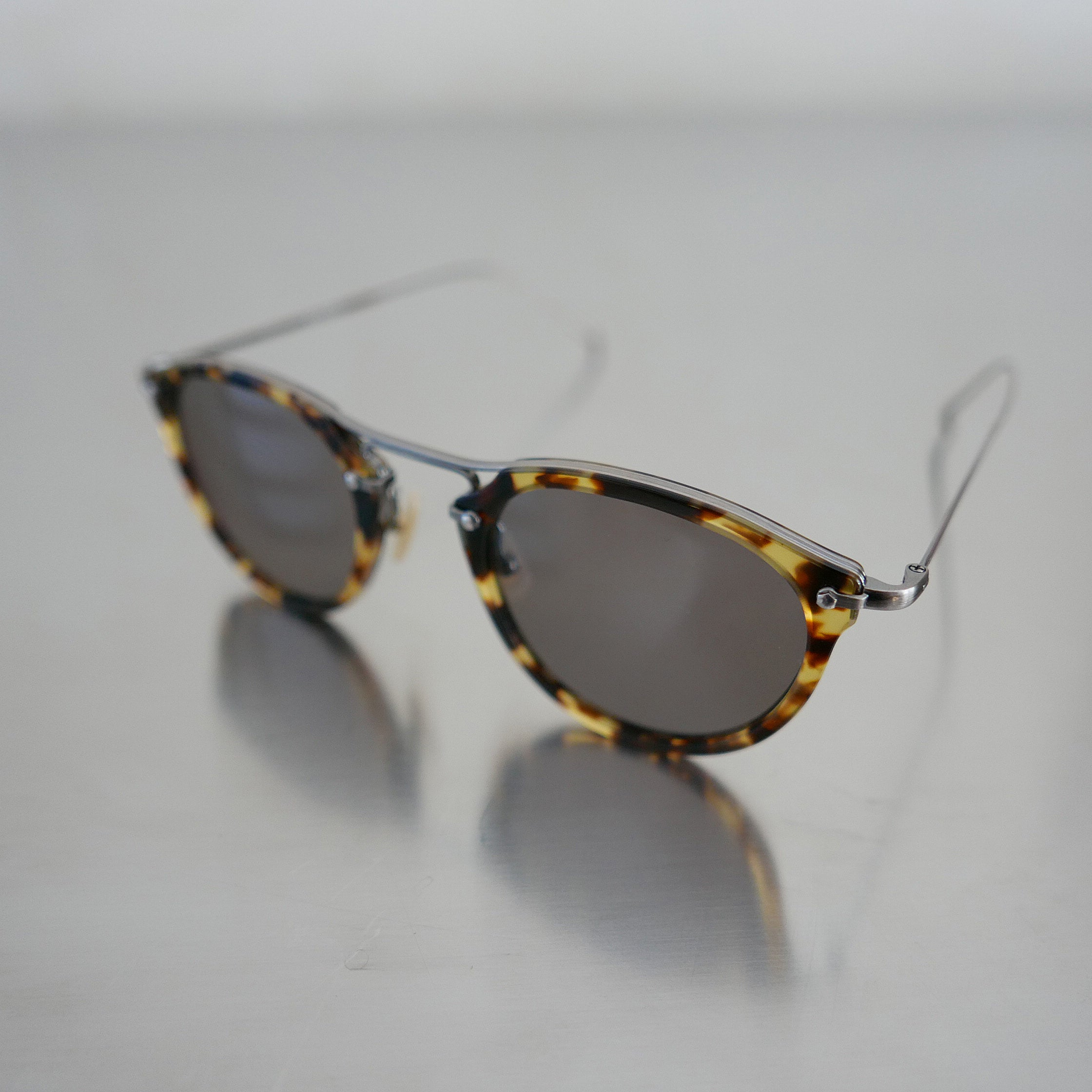 KVS-06  Sunglass in Yellow Demi - Biodegradable Cellulose Acetate and Titanium
