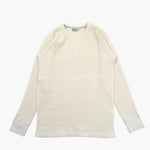 Long Sleeve Waffle Tee in Natural