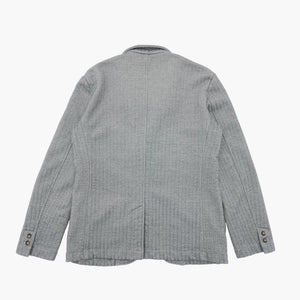 Stripe Seed Stitch Fleece Jacket in Deep Navy