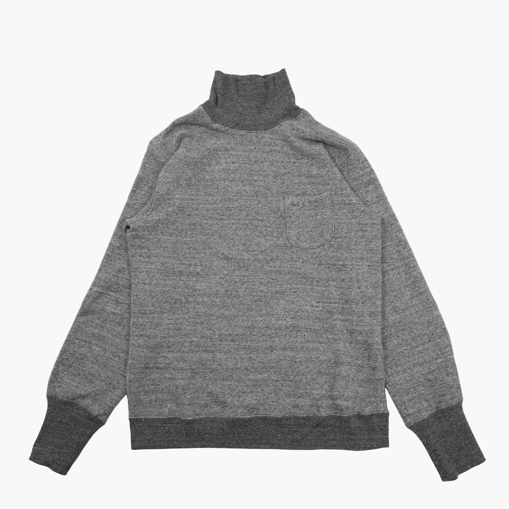 High Neck Sweat Shirt in Charcoal Grey