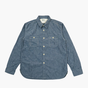 Burgus Plus- 5oz Selvedge Chambray Work Shirt