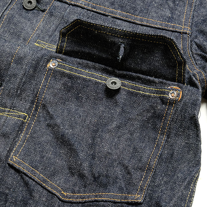 (71928-XX) 14.5oz Natural Indigo Type I Selvedge Denim Jacket