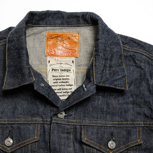 (71955-XX) 14.5oz Natural Indigo Type III Selvedge Denim Jacket
