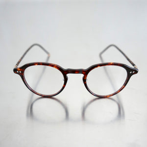 KJ-18 (Clip) in Red Demi  - Biodegradable Cellulose Acetate and Titanium