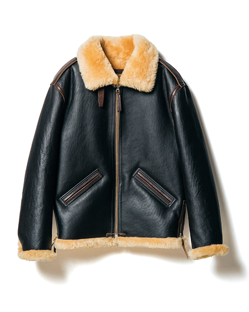 Colomer Mouton in Black x Brown (Type B-6) Jacket
