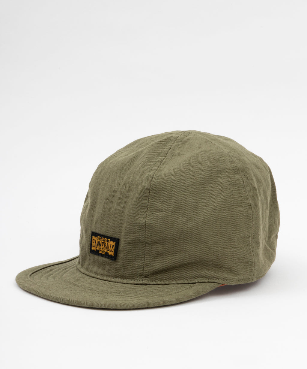 Ragtime Chopper Cap - Army Green Serge