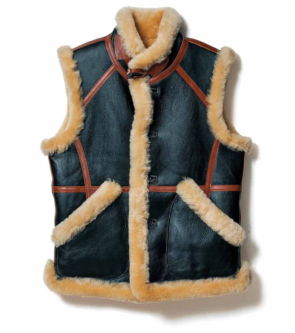 Pre-Order: Colomer Mouton Vest in Black & Brown CM-07