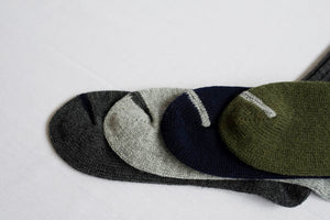 Wool Ribbed Socks in Navy