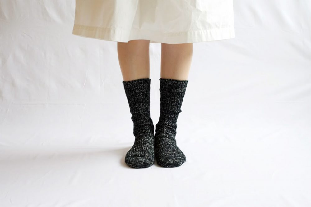 Hemp Cotton Ribbed Socks in Midnight