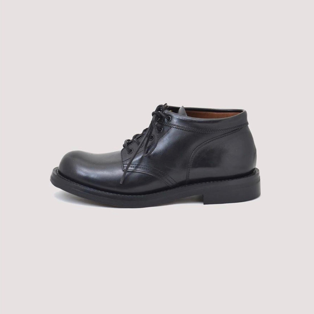 COUPEN Mid-Cut Boot in Horse All Black