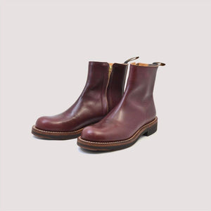 CASPER Side-Zip Boot in Oil Burgundy