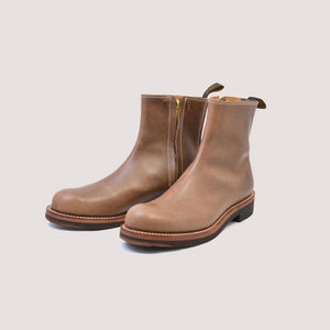 CASPER Side-Zip Boot in Oil Natural