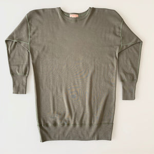 US006 Crew Neck Long Sleeve Sweat Shirt in Olive